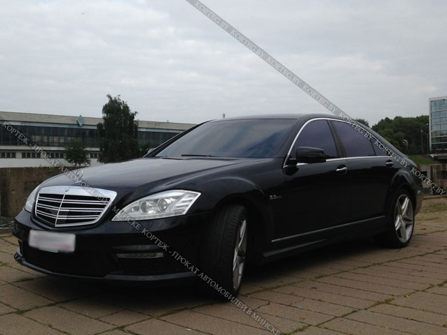 Mercedes W221 Restyling Black Long