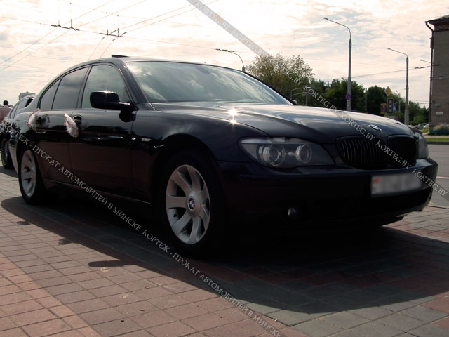 Аренда BMW 7 E65 Restyling Black Long с водителем в Минске