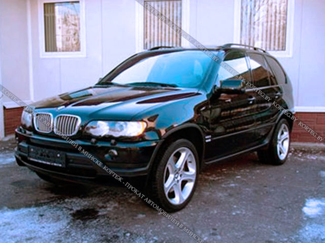 Аренда BMW X5 E53 Restyling Black с водителем в Минске