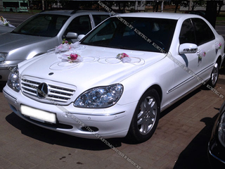 Аренда Mercedes W220 Restyling White Long с водителем в Минске