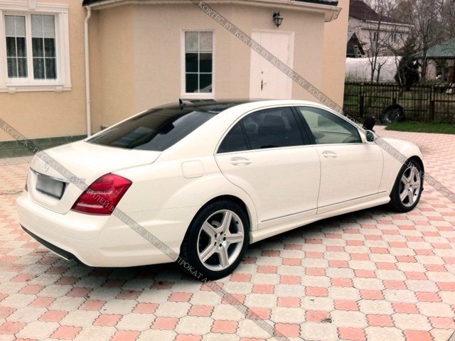 Аренда Mercedes W221 Restyling White Long с водителем в Минске